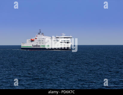 M/V Berlin hybrid ferry on the Rostock-Gedser route - Stock Image