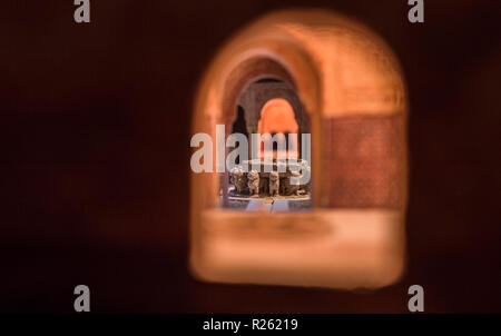 Cordoba, Spain - 2018, Sept 8th: Alhambra scale model. Lions fountain. Museum, Cordoba, Spain - Stock Image