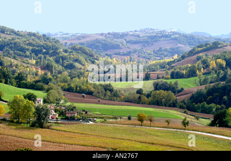 Beautiful Countryside panorama of the Le Marche province of Italy - Stock Image