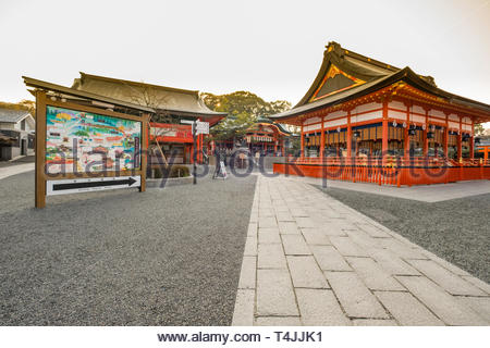 Fushimi Inari Taisha Shinto shrine dedicated to the god Inari, Fukakusa Yabunouchichō, Fushimi Ward, Kyoto, Honshu, Japan - Stock Image