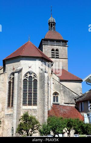 France, Bourgogne Franche Comte, Jura (39), Orgelet, Notre Dame church - Stock Image