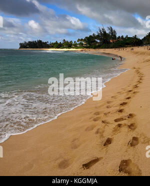 Sunset Beach on the North Shore, Oahu, Hawaii - Stock Image