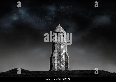 St. Catherine's Oratory, Isle of Wight, Hampshire, England, UK - Stock Image
