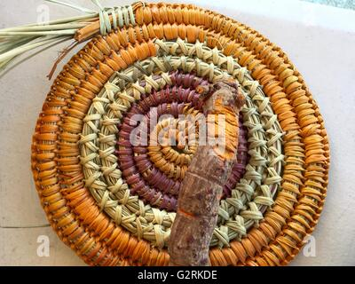 Yellow root used to dye the baskets made by the Aboriginal Jawoyn people at Katherine Gorge, Nitmiluk National Park, - Stock Image