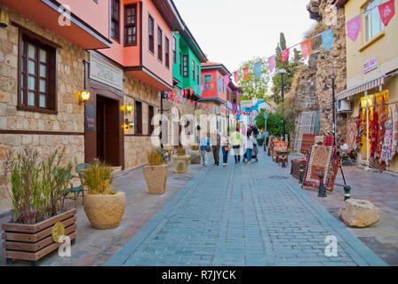 Pasa Cami Sokak, Kaleici, old town, Antalya, Turkey - Stock Image