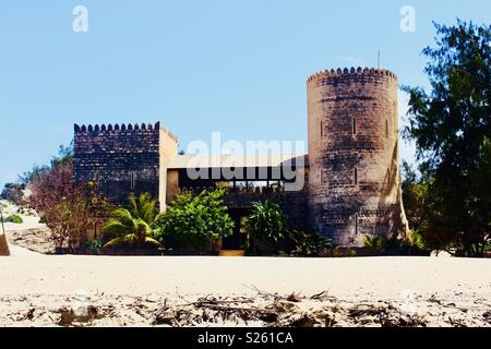 The fort at Shela beach in Lamu, Kenya - Stock Image