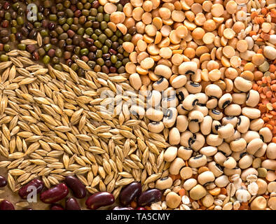 Still life dry cooking ingredients image - Stock Image