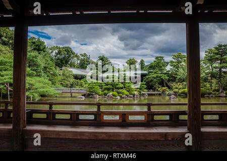 Heian Jingu, Shin-en Garden, Kyoto, Japan - Stock Image