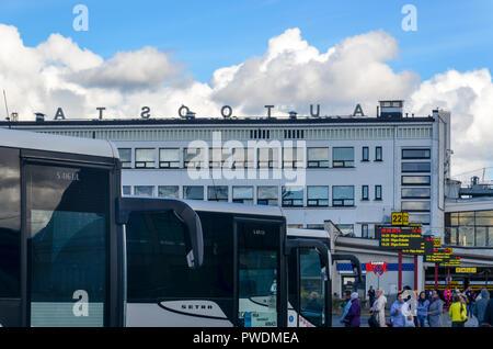 Riga central station, Latvia - Stock Image