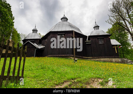 Eastern  Orthodox church in Michniowiec , Carpathian Mountains,Bieszczady,Poland. - Stock Image
