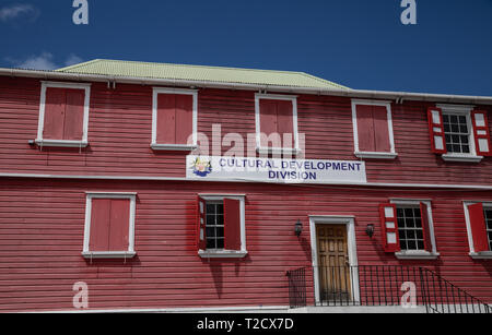 Cultural Development division in Saint John's, Capital of Antigua and Barbuda - Stock Image