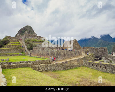 Constructions in the Machu Picchu citadel - Stock Image