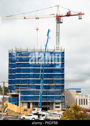 Gosford, New South Wales, Australia - September 3. 2018: Construction site and building progress update 122. on new home units building site at 47 Bea - Stock Image