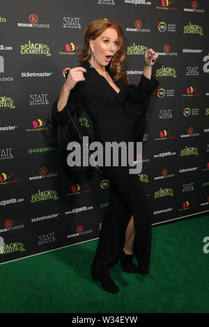 Sydney, Australia. 12th July 2019. Jack and the Beanstalk Giant 3D musical spectacular red carpet at the State Theatre. Pictured: Rhonda Burchmore. Credit: Richard Milnes/Alamy Live News - Stock Image