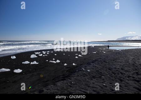 Jokulsarlon, Ice Lagoon Beach, Iceland - Stock Image