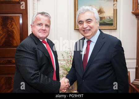Deputy Secretary of State John J. Sullivan meets with International Energy Agency Director Dr. Faith Birol at the U.S. Department of State in Washington, D.C. on January 16, 2018. - Stock Image