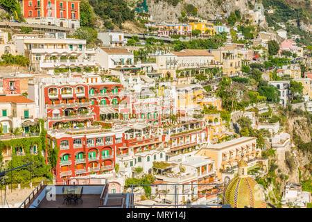 Positano, Amalfi coast, Salerno, Campania, Italy. - Stock Image