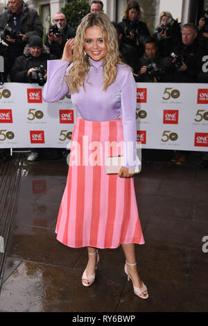 LONDON, UK. March 12, 2019: Emily Attack arriving for the TRIC Awards 2019 at the Grosvenor House Hotel, London. Picture: Steve Vas/Featureflash Credit: Paul Smith/Alamy Live News - Stock Image