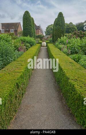 garden leeds castle - Stock Image