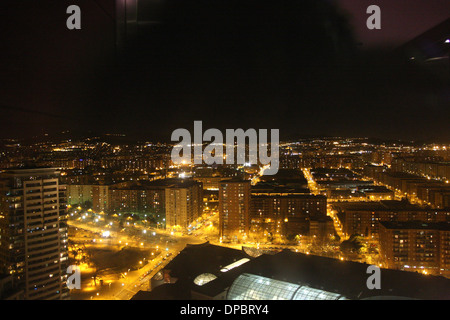 Night view in Barcelona, Catalonia, Spain, Europe - Stock Image
