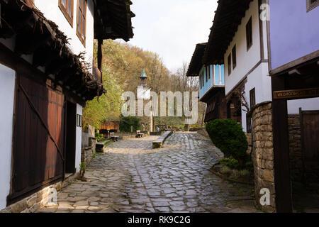 ETARA, GABROVO, BULGARIA- MARCH 27, 2016: Architectural Ethnographic Complex Etara near town of Gabrovo, Bulgaria. - Stock Image