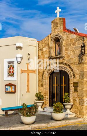 Church of St. Panteleimon, Rhodes Town, Greece - Stock Image