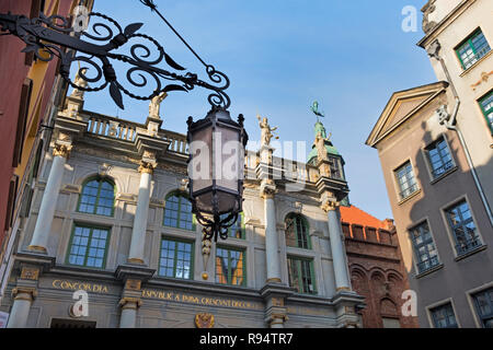 Golden Gate Dlugi Targ Long Market street Gdańsk Poland - Stock Image