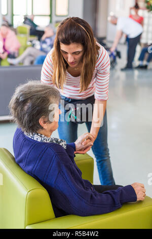 EHPAD specialized in the care of the elderly suffering from Alzheimer's disease, Center for psychogeriatric care, Le Verger des Balans, France. - Stock Image