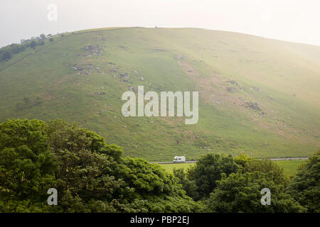 The Valley of Rocks, Lynton, North Devon, looking inland, on the South West Coast Path. - Stock Image