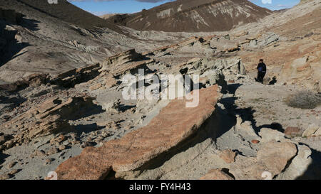 Red Rock Canyon State Park California desert cliffs, buttes rock formations - Stock Image