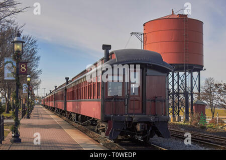 The Strasburg Rail Road in Lancaster County, Pennsylvania, USA - Stock Image