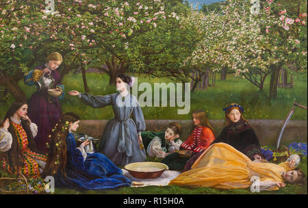 Spring, Apple Blossoms, John Everett Millais, 1858-1859, Lady Lever Art Gallery, Port Sunlight, Liverpool, England, UK, Europe, - Stock Image
