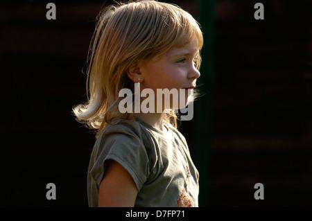 Girls, 5 years, portrait - Stock Image