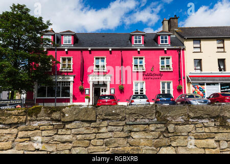 Old Customs House which is now a beautiful Inn in Belcoo, County Fermanagh, N.Ireland. Across the nearby bridge is Blacklion in Republic of Ireland. - Stock Image