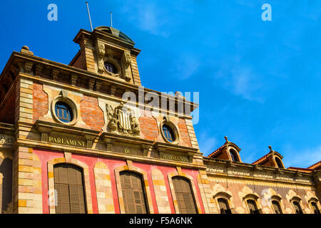 Parliament of Catalonia in Barcelona, Spain - Stock Image