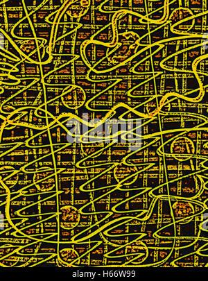 Orange Seals. Original drawing digitally adjusted. - Stock Image