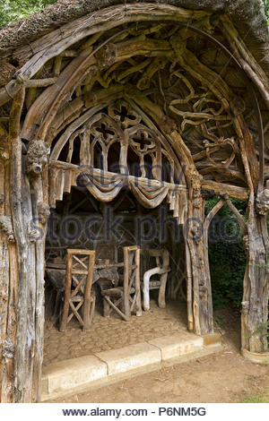 Root and Branch Pavilion, Belvoirweird Castle gardens, Leicestershire, England, UK - Stock Image