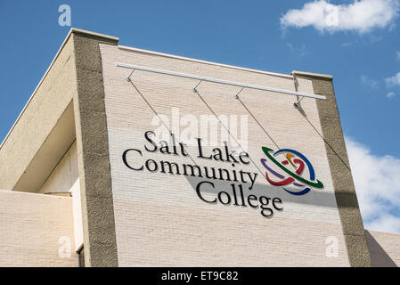 Salt Lake Community College Building Sign - Utah - Stock Image