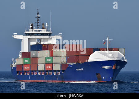 Dutch Feeder Evidence inbound for Kiel - Stock Image