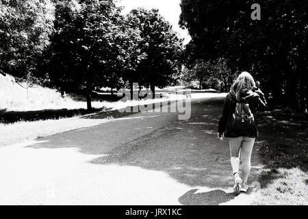 A walk in Kelvingrove park Glasgow - Stock Image