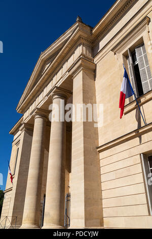 The Courthouse or Tribunal de Grande Instance in the town of Bergerac in the Dordogne, France. - Stock Image