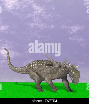 Dinosaurier Sauropelta / dinosaur Sauropelta - Stock Image