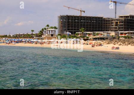 Hotel construction, Ayia Napa, Cyprus October 2018 - Stock Image