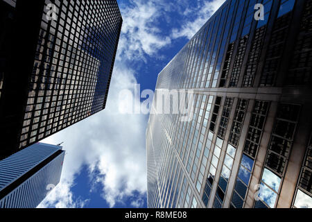 Looking upwards in the city - Stock Image