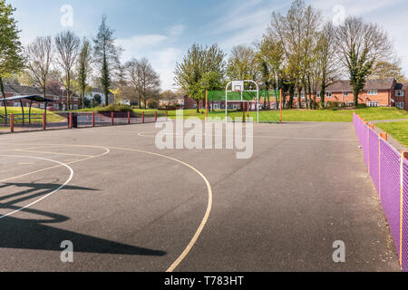 Childrens playground in Greenlands, Redditch, Worcestershire. - Stock Image