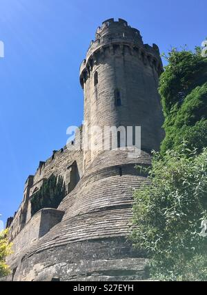 Caesar's Tower, Warwick Castle, probably England's finest surviving example of a medieval fortification and military architecture. - Stock Image