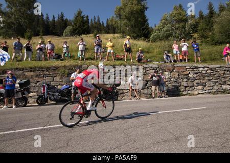 Jesus Herrada Tour de France 2018 cycling stage 11 La Rosiere Rhone Alpes Savoie France - Stock Image