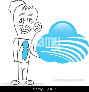 Vector Business Man - Stock Image