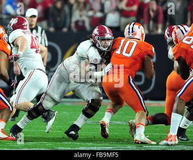 Glendale, AZ, USA. 11th Jan, 2016. Dominick Jackson #76 of Alabama during the 2016 College Football Playoff National - Stock Image