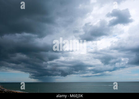 Storm clouds gathering on the coast at Ramsgate, Kent. - Stock Image